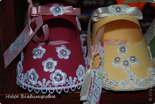 Парад пинеток - эти пинеточки очень распространены в Стране Мастеров, делаются быстро и с большим удовольствием!  В такие башмачки можно положить денежку, маленький подарочек или просто подарить в качестве открытки. Эту партию обуви - приготовила на продажу - надеюсь что каждая найдет своего малыша!  фото 3