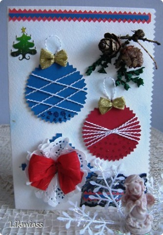 Заглянула я намедни к Саше http://stranamasterov.ru/user/16084, а у нее там...., красота и такие милые идейки, такие штучки и прочие завлекалочки. Сразу ножницы в руки, думаю, сделаю шарики по- быстрому. Да не тут-то было... фото 7