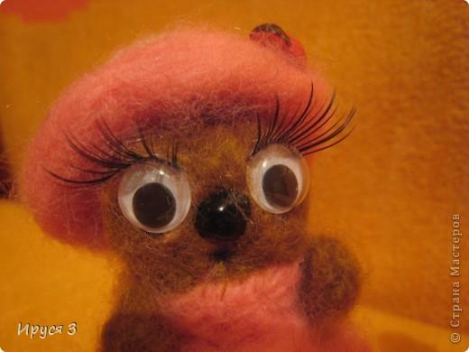 Кошечка - валяшечка (игрушку сваляла моя 8-летняя доченька Маришка ) фото 3