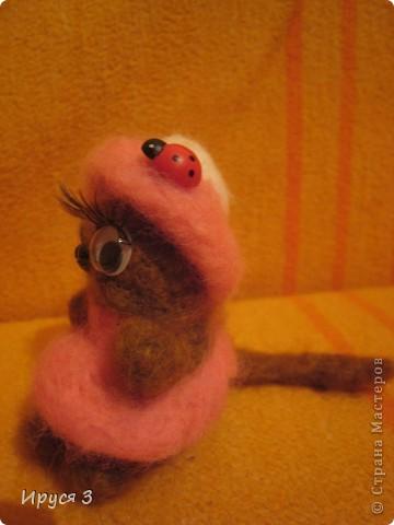 Кошечка - валяшечка (игрушку сваляла моя 8-летняя доченька Маришка ) фото 2