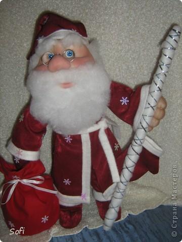 Вот такой пошился у меня добрячок Дедушка Мороз. фото 11