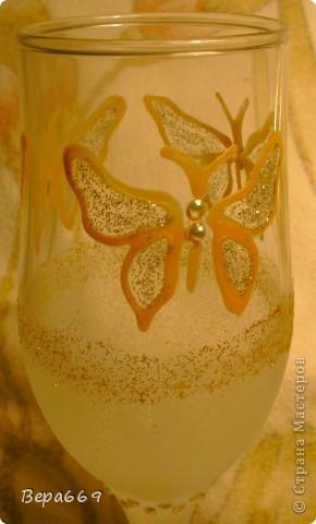бокалы с бабочками фото 3