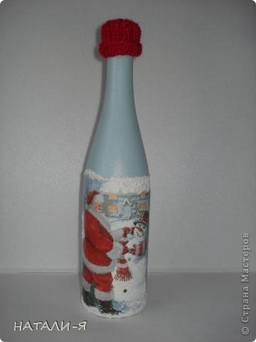 Готовимся потихонечку к празднику. Очень понравилось делать бутылочки!!! Спасибо Стране за великолепные идеи!!! фото 2