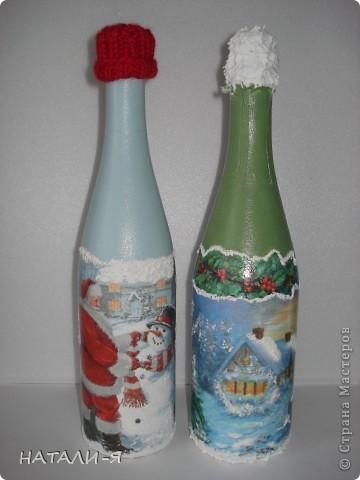 Готовимся потихонечку к празднику. Очень понравилось делать бутылочки!!! Спасибо Стране за великолепные идеи!!! фото 5