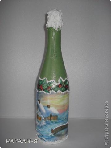 Готовимся потихонечку к празднику. Очень понравилось делать бутылочки!!! Спасибо Стране за великолепные идеи!!! фото 3
