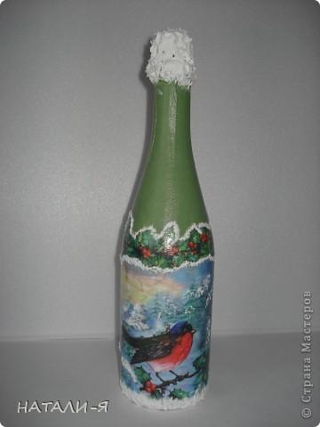 Готовимся потихонечку к празднику. Очень понравилось делать бутылочки!!! Спасибо Стране за великолепные идеи!!! фото 4