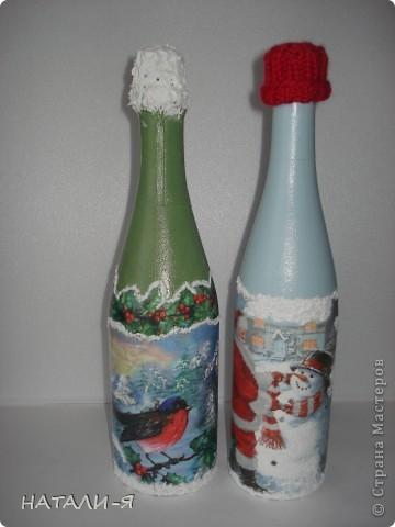 Готовимся потихонечку к празднику. Очень понравилось делать бутылочки!!! Спасибо Стране за великолепные идеи!!! фото 6