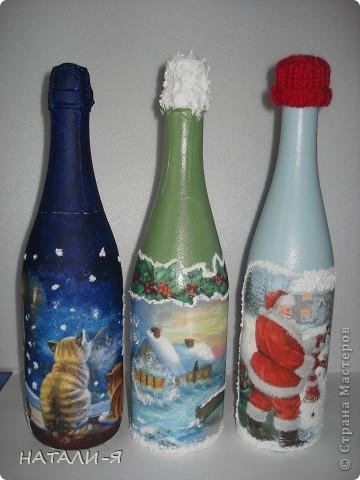 Готовимся потихонечку к празднику. Очень понравилось делать бутылочки!!! Спасибо Стране за великолепные идеи!!! фото 1