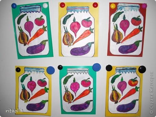 """Овощи """"консервировали"""" по книге Давыдовой Г.Н. """"Пластилинография"""" фото 3"""
