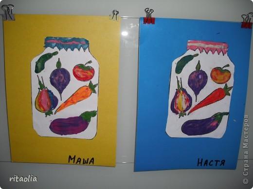 """Овощи """"консервировали"""" по книге Давыдовой Г.Н. """"Пластилинография"""" фото 1"""