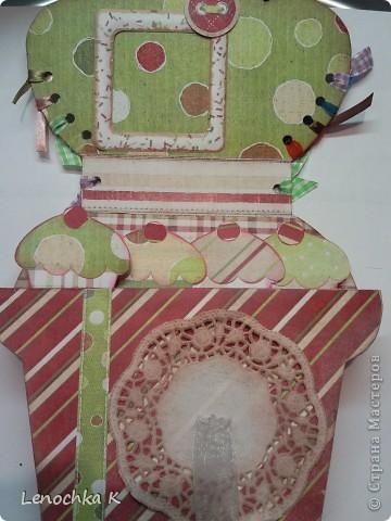 Пора делать подарки к Новому году... вот и пришла идея в голову сделать вот такой блокнотик для кулинарных рецептов в виде кекса... фото 2