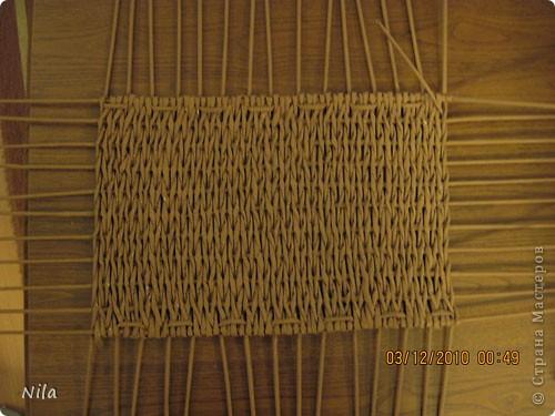 Мастер-класс Плетение Плетение квадратной прямоугольной  коробки Бумага газетная Трубочки бумажные фото 16