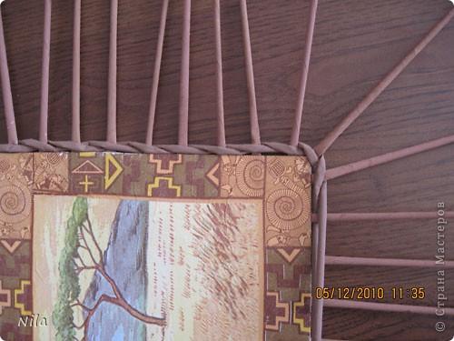 Мастер-класс Плетение Плетение квадратной прямоугольной  коробки Бумага газетная Трубочки бумажные фото 32