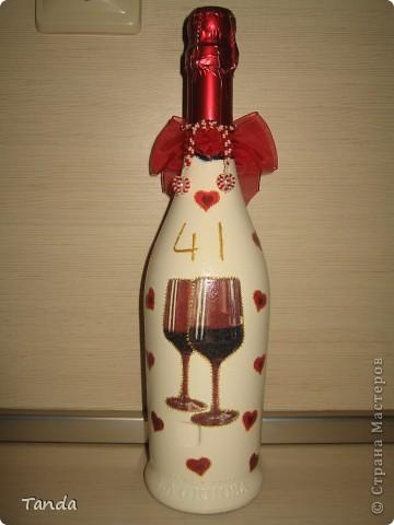 Подарочная бутылка на годовщину свадьбы  фото 2