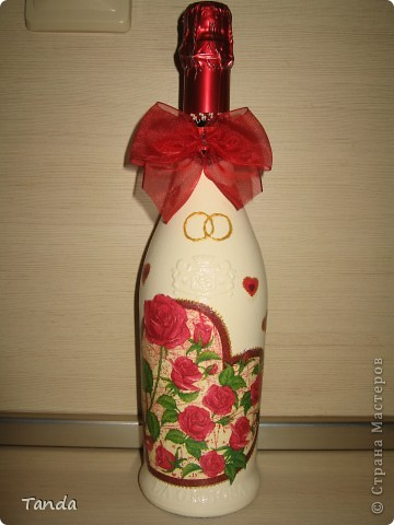 Подарочная бутылка на годовщину свадьбы  фото 1