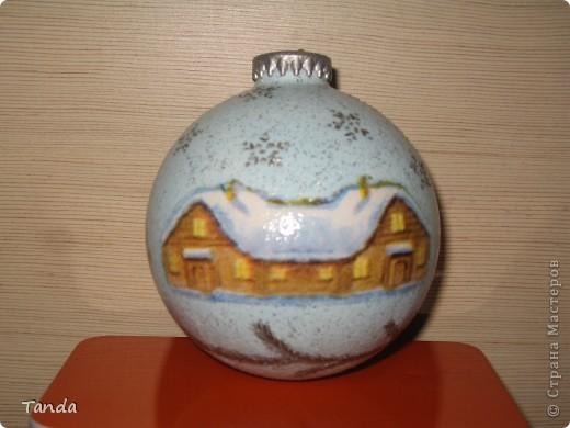 Новогодний шарик -Зима фото 1