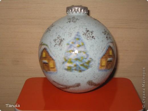 Новогодний шарик -Зима фото 2