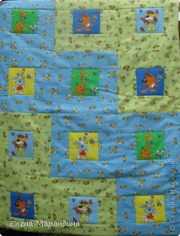 """Лоскутное детское одеяло """"Зоопарк"""""""