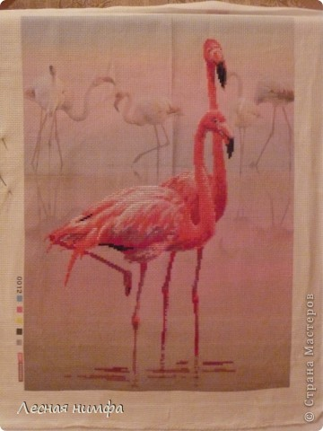 Розовые Фламинго...моя новая вышивка... фото 2