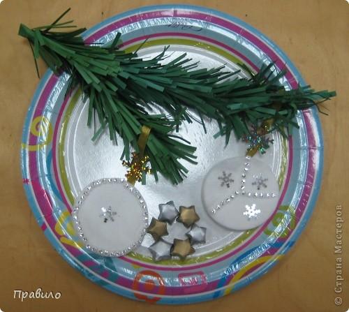 Новогодняя тарелочка фото 2