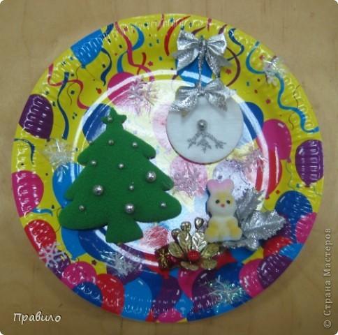 Новогодняя тарелочка фото 1