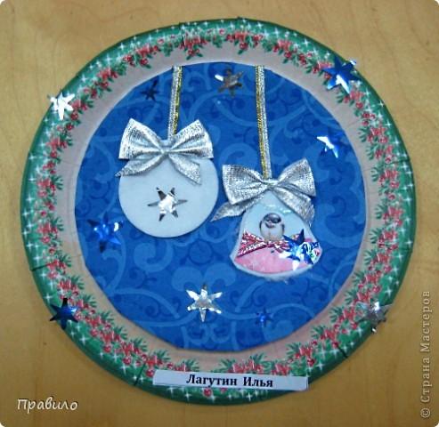 Новогодняя тарелочка фото 8