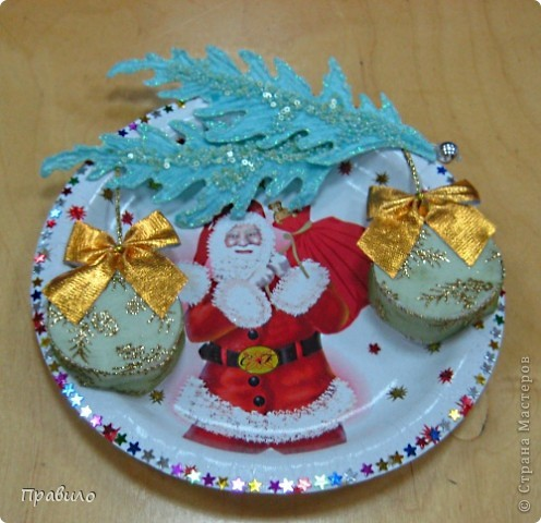 Новогодняя тарелочка фото 5