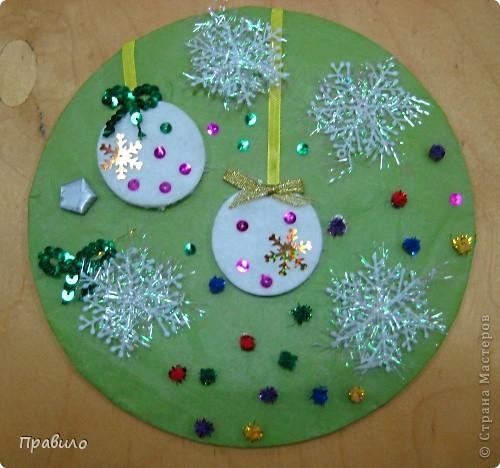 Новогодняя тарелочка фото 7