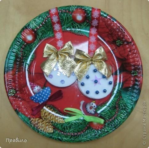 Новогодняя тарелочка фото 4