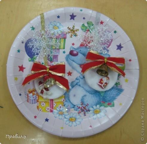 Новогодняя тарелочка фото 6