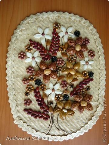 """""""Богатство природы"""".Работа из семян и косточек фруктов. фото 1"""