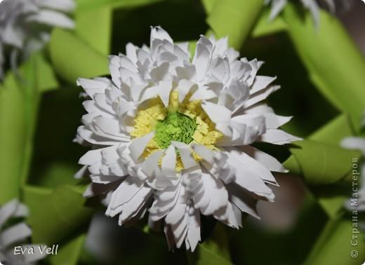 Арабеска с белыми хризантемами фото 4