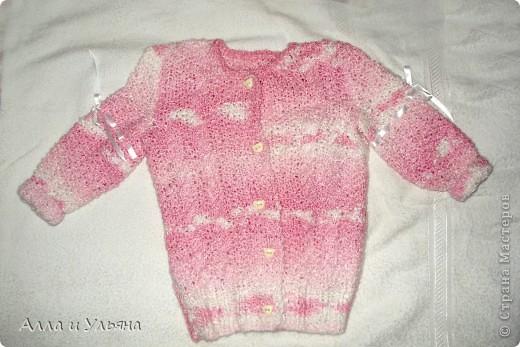 Для любимой внучки Ариши к Новому году ) Пуговицы - мишки, на рукавах - атласные ленточки.