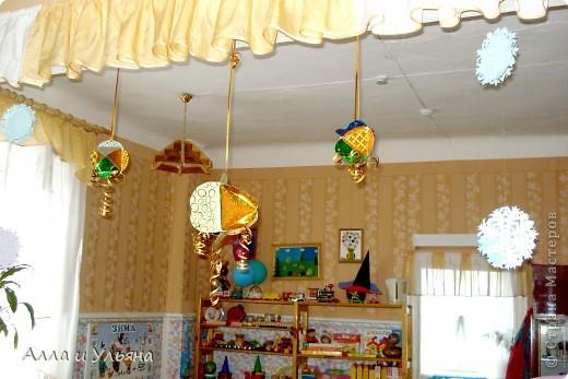 Вот такие объемные шарики мы сделали для украшения к Новому году в Детский сад! фото 3