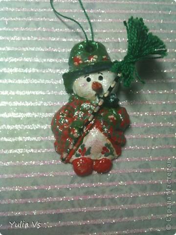 вот еще  немножко рождественских ёлочных игрушек))) фото 1