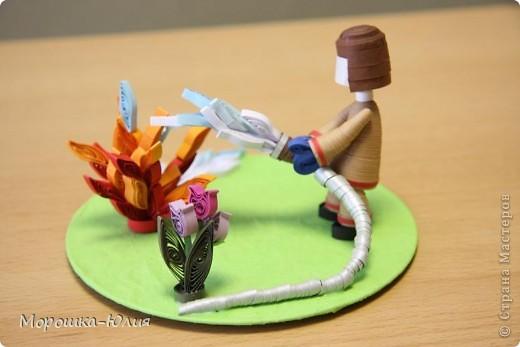 Модульное оригами пожарный пожарная машина