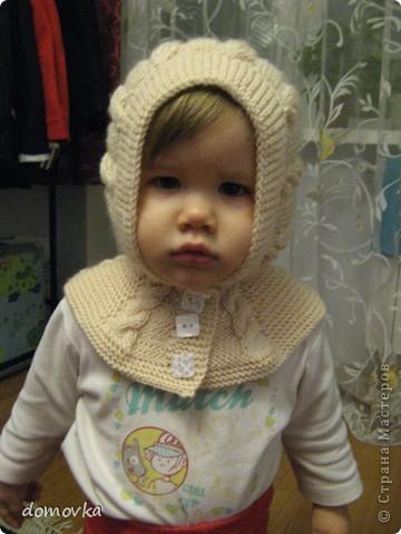 МК по вязанию шапки-шлема для девочки
