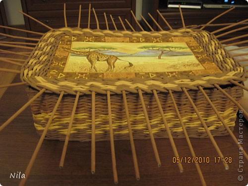 Мастер-класс Плетение Плетение квадратной прямоугольной  коробки Бумага газетная Трубочки бумажные фото 34