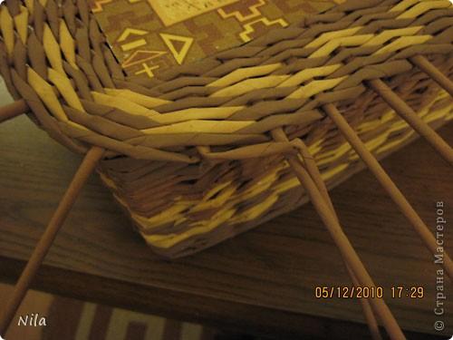 Мастер-класс Плетение Плетение квадратной прямоугольной  коробки Бумага газетная Трубочки бумажные фото 35