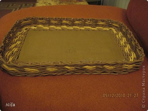 Мастер-класс Плетение Плетение квадратной прямоугольной  коробки Бумага газетная Трубочки бумажные фото 39