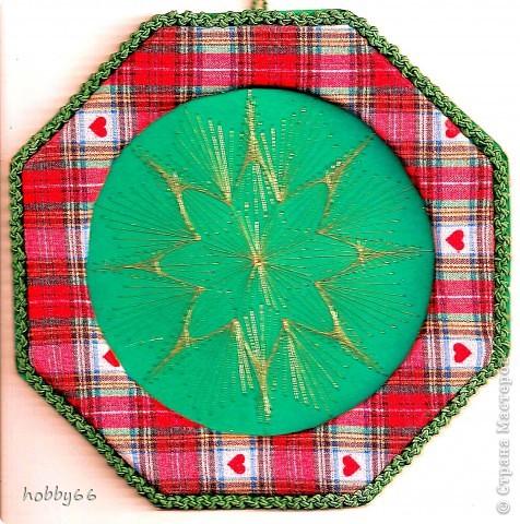 Картина панно рисунок Новый год Рождество Изонить Готовимся к Рождеству + схема Изонить Бумага Нитки фото 1.