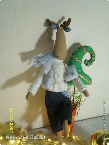 Лосяшик!вязаный свитер,джинсики,шарфик и коньки!..да он ароматный(кофе-корица-ванилин!!!!)...... фото 1