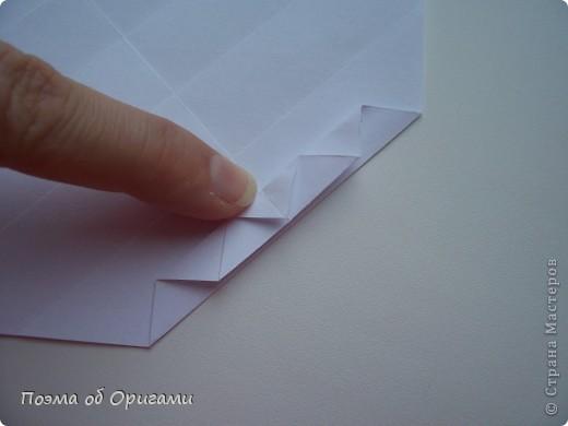 Красивая гофрировка из квадрата фото 12