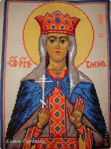 Картина панно рисунок Вышивка крестом Иконы вышитые крестиком Канва фото 1.