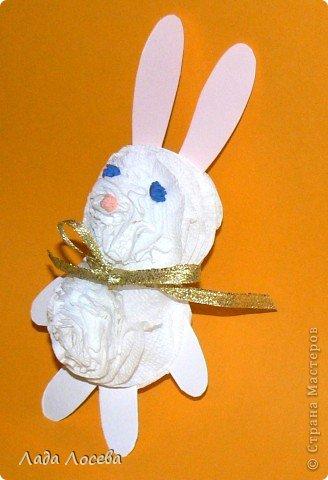 Сегодня ребята делали кроликов для Новогоднего украшения ёлочки. фото 3
