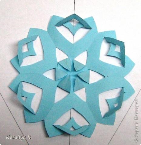Снежинки-киригами мастер-класс фото 8