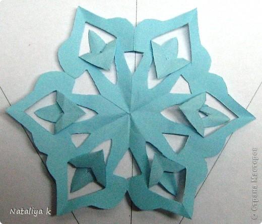 Снежинки-киригами мастер-класс фото 9