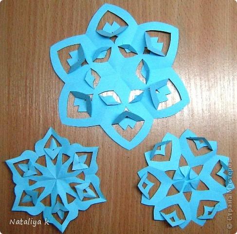 Снежинки-киригами мастер-класс фото 10