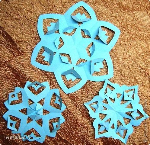 Снежинки-киригами мастер-класс фото 1