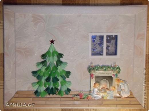Скоро Новый год и так уже хочется окунуться в сказочный новогодний вечер... И так родилась эта картина... фото 6